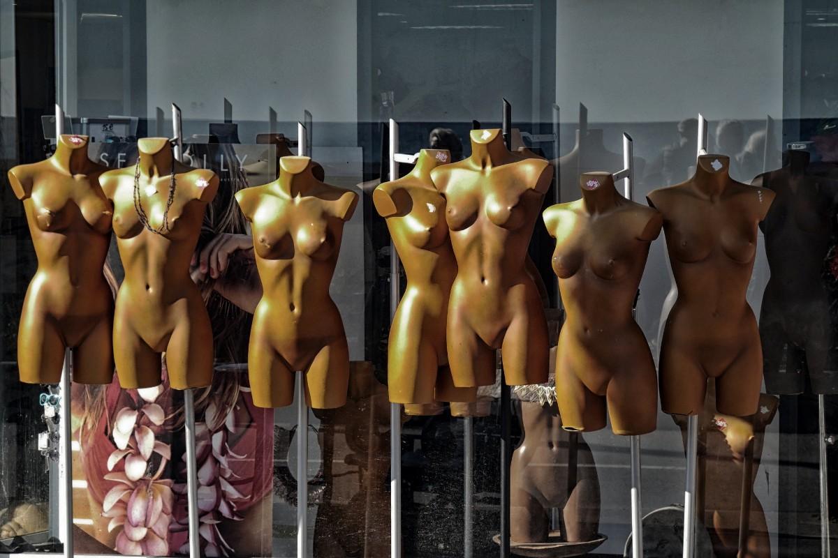 mannequins on display