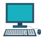 Vector image of computer