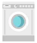 Vector image of washing machine