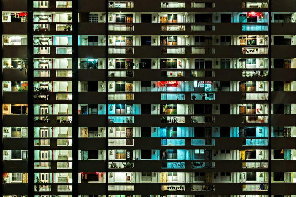 apartment population building