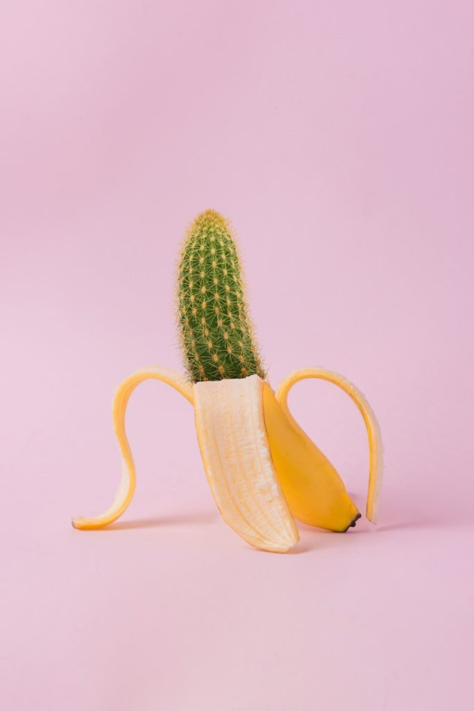 spiky phallic banana describing anal herpes